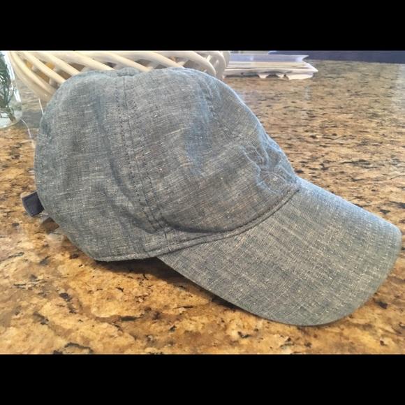 95e38d2c1b863 J. Crew Accessories - J.Crew chambray cotton linen baseball cap